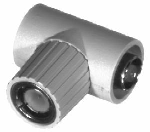 RFB-1130-2 RF Industries BNC M TO Double BNC FEM T ADAPTER, MOLDED JACKET,Nickel,Gold,D