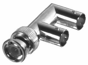 RFB-1130-3 RF Industries BNC MALE TO DOUBLE BNC FEM F ADAPTER NGold,D