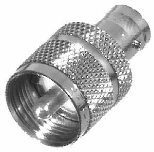 RFB-1137 RF Industries BNC FEM TO UHF MALE ADAPTER, Nickel,S,D