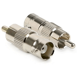 RFB-1140 RF Industries BNC Female To RCA Male Adapter Nickel Plated