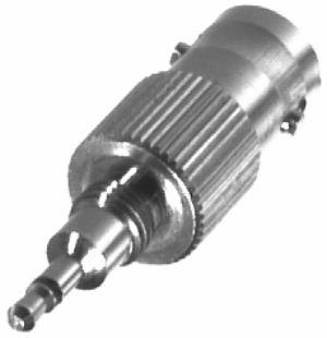 RFB-1141 RF Industries BNC FEM TO MOT PHONO PLG ADPTR, P110,P120,GP300, Nickel,Gold,T