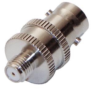 RFB-1142-4 RF Industries BNC FEM TO SMA (MOTOROLA) FEM ADAPTER, Nickel,Gold,T