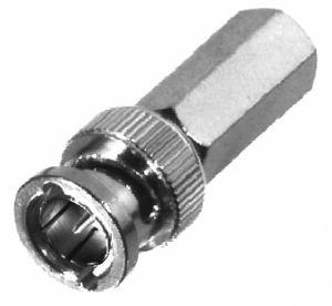 RFB-1705 RF Industries BNC 75 OHM MALE TWIST-ONickel, Nickel,S,D; FOR RG-59/U, RG59, RG62, 210, M17/