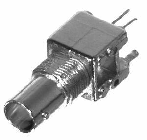 RFB-1711-1 RF Industries BNC 75 OHM FEM VERT PCB MOUNT, Nickel,Gold,T