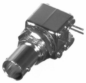 RFB-1711 RF Industries BNC 75 OHM FEM Right Angle PCB MOUNT, Nickel,Gold,T