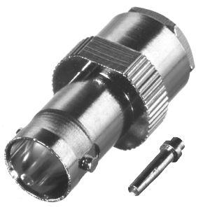 RFB-1720 RF Industries BNC 75 OHM FEM SOLDER CLAMP, Nickel,S,T; FOR RG-59/U, RG59, RG62, 210, M17/29
