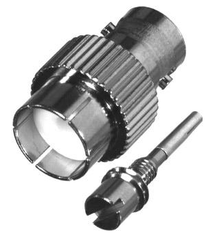 RFB-1745 RF Industries BNC 75 OHM FEM TO 1/4 X 24 STUD ADAPTER, KENWOOD TK240, TK340, Nickel,S,T