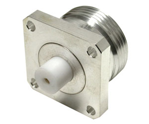 RFD-1643-HS RF Industries 7/16 DIN FEM 4-HOLE FLANGE RECEPTACLE, S,S,T