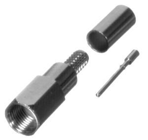 RFE-6000-C RF Industries FME MALE CRIMP, Nickel,Gold,T; FOR RG-58/U, CBL GRP C