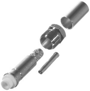 RFE-6050-C RF Industries FME FEMALE CRIMP, Nickel,Gold,T; FOR RG-58/U, CBL GRP C