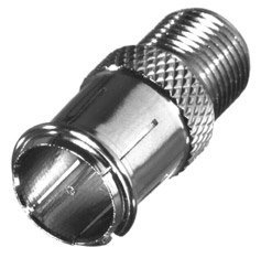 RFF-1445-5-1 RF Industries F, MALE QUICK DISCONNECT TO F FEMALE ADAPTER; Gold,T,PE