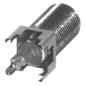 RFF-1450-03 RF Industries F, FEMALE VERTICAL PCB MOUNT, Nickel,T,D
