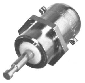 RFM-2002-1 RF Industries MB, FEM 1-HOLE BLKHD, NO THREADS, Nickel,Gold,T