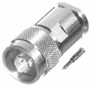 RFN-1002-1N RF Industries Nickel, MALE SOLDER CLAMP, Nickel,Gold,T; FOR RG-8/U & RG-213/U, CBL GRP E