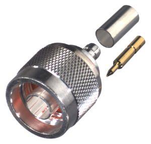 RFN-1005-3C RF Industries N Male Crimp Silver Plated For RG-58/U, LMR195