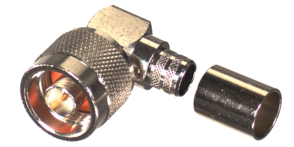RFN-1009-I-99 RF Industries Nickel, MALE Right Angle CRIMP, Nickel,Gold,T; FOR RG-8 TYPE, LMR-400 &