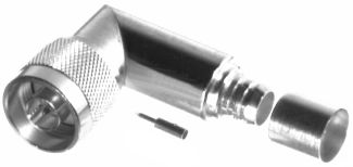 RFN-1009-PL RF Industries Nickel, MALE Right Angle CRIMP, S,Gold,T; FOR BELDEN 89913, CBL GRP PL