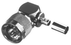 RFN-1009-X-04 RF Industries Nickel, MALE Right Angle CRIMP, Nickel,Gold,T; FOR RG-8/X, CBL GRP X