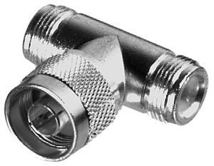 RFN-1010-1 RF Industries N T ADAPTER-2 FEM, 1 MALE, S,Gold,T