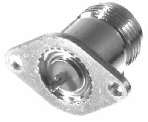 RFN-1020-1 RF Industries Nickel, FEM, 2- HOLE PANEL MNT, S,Gold,T