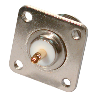 RFN-1021-03 RF Industries Nickel, FEM 4-HOLE PANEL MNT, S,Gold,T W/ BECU CONTACT