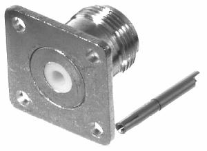 RFN-1021-1 RF Industries Nickel, FEM (RFN-1021 STYLE), REMOVABLE CAPTV PINickel, FLAT REAR, S,Gold,T