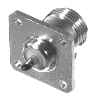 RFN-1021-2 RF Industries Nickel, FEM 4-HOLE PANEL MNT UG-58A/U, Nickel,Gold,T