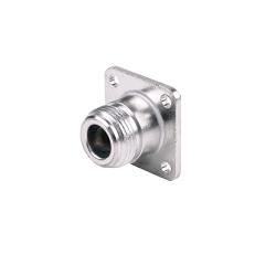 RFN-1021-SR3 RF Industries Nickel, FEM 4-HOLE PANEL MNT SOLDER JACK, Nickel,Gold,T; FOR 250 SEMI R