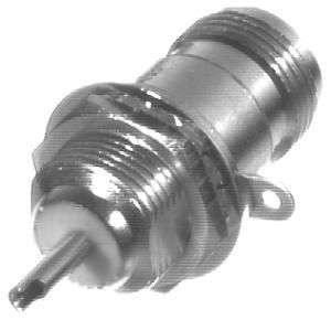 RFN-1022-3 RF Industries Nickel, FEM LONG FRONT MNT BLKHD DOUBLE D-FLAT, S,Gold,T