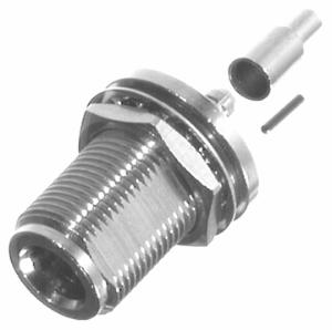 RFN-1022-8-M RF Industries Nickel, FEM CRIMP, REAR MNT BLKHD, Nickel,Gold,T; FOR RG-58/U PLENUM, CB