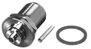 RFN-1022-SR2 RF Industries Nickel, FEM BLKHD REAR MNT, Nickel,Gold,T; FOR 141 SEMI-RIGID CBL, CBL G