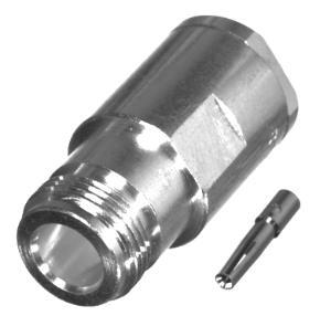 RFN-1024-1SI RF Industries Nickel, FEM SOLDER CLAMP, S,Gold,T; FOR RG-8/U TYPE, LMR-400 & BELDEN 991