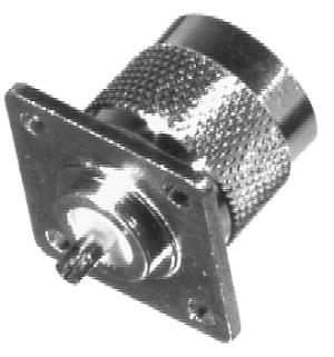 RFN-1041-1 RF Industries Nickel, MALE 4-HOLE PANEL MNT, SOLDER CUP, S,Gold,T