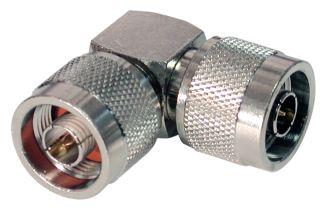 RFN-1054-AV RF Industries N MALE TO N MALE Right Angle ADAPTER, Nickel,Gold,T