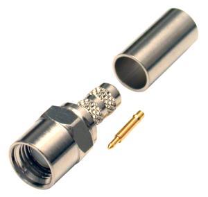 RFS-2115 RF Industries SMA MALE CRIMP W/ MODIFIED SHELL, Nickel,Gold,T, CBL GRP C