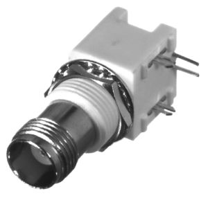 RFT-1209-W-05 RF Industries TNC, FEM Right Angle LOW PRFILE PCB MNT, WHITE VALOX, AGold,P; SNAP LEG