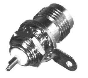 RFT-1211-1-03 RF Industries TNC, FEM FRONT MNT BLKHD, D-FLAT, SOLDER POT, BECU CONTACT, Nickel,Gold,