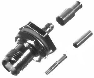 RFT-1212-B1 RF Industries TNC, FEM BLKHD CRIMP, Nickel,Gold,D; FOR RG316/U, LMR100A Double SHILED, C