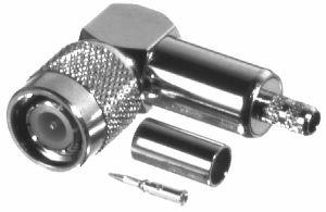 RFT-1218-C1 RF Industries TNC, MALE Right Angle CRIMP, Nickel,Gold,T; FOR RG-142/U & RG-55/U, CBL GR
