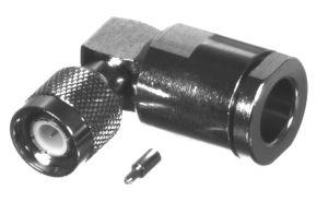 RFT-1219-E RF Industries TNC MALE Right Angle CLAMP Plug, Nickel,Gold,T; FOR RG-8/U & RG-213/U, CBL