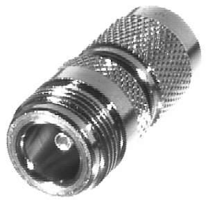 RFT-1234 RF Industries TNC MALE TO N FEM ADAPTER, Nickel,Gold,T