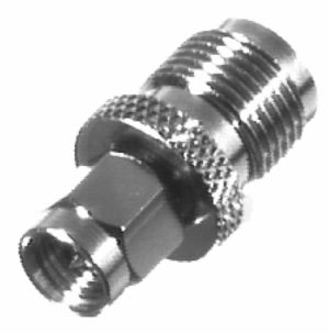 RFT-1241-6 RF Industries TNC FEM TO SMA MALE, Nickel,Gold,T