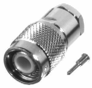 RFT-1801 RF Industries TNC 75 OHM MALE CLAMP SOLDER Plug, Nickel,S,T; FOR RG-59/U, RG59, RG62, 210,