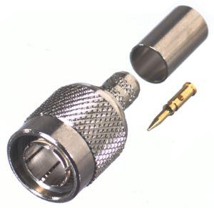 RFT-1803-R RF Industries TNC, 75 OHM MALE CRIMP, Nickel,Gold,D; FOR RG-11/U, CBL GRP R