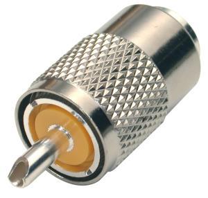 RFU-500 RF Industries UHF Male Solder PL-259 RG8/U, Silver Nickel