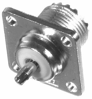RFU-521 RF Industries UHF, FEM 4-HOLE PANEL MNT, SO-239, Nickel,S,B