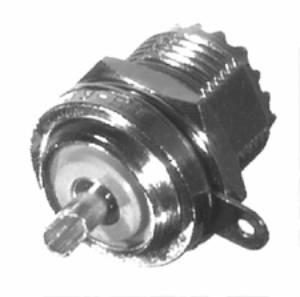 RFU-524 RF Industries UHF,FEM REAR MNT BLKHD, SO-239-RM, Nickel,S,B