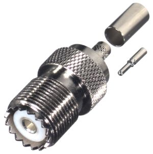 RFU-527 RF Industries UHF, FEM CRIMP, Nickel,S,D; FOR RG-58/U, CBL GRP C