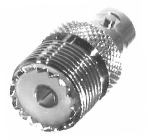 RFU-545 RF Industries UHF FEM TO BNC FEM ADAPTER, Nickel,S,D