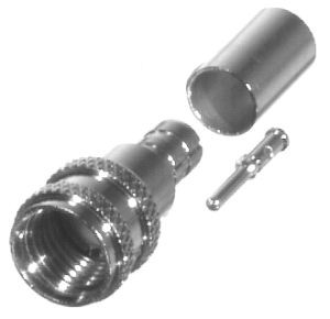 RFU-600-1X RF Industries Mini-UHF Male for LMR-240 Nickel Plated Brass